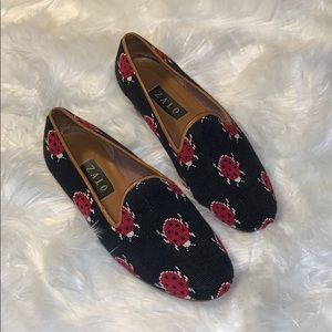 Zalo Dark Blue Ladybug Shoes